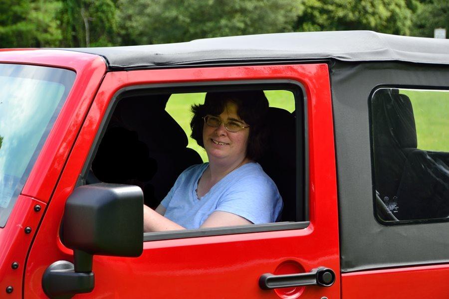 Tia in Jeep
